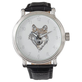 Head wolf - wolf illustration - american wolf watch