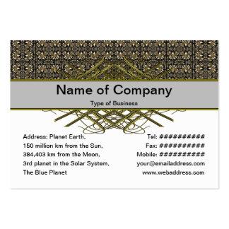 Headache Inducing Grid Business Cards