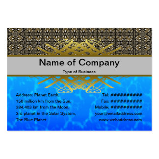 Headache Inducing Grid Large Business Cards (Pack Of 100)