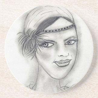 Headband Deco Girl Drink Coaster
