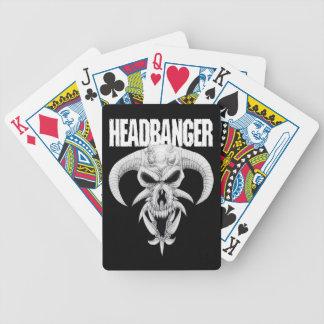 Headbanger Skull Bicycle Playing Cards