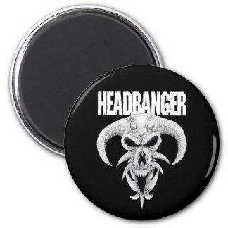 Headbanger Skull Magnet