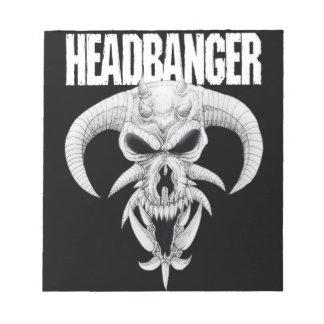 Headbanger Skull Notepad