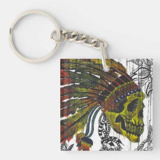 Headdress Skull Keychain