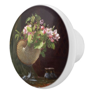 Heade Apple Blossom Flowers Shell Painting Knob