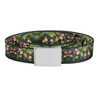 Heade Apple Blossoms Flowers Floral Trim Belt