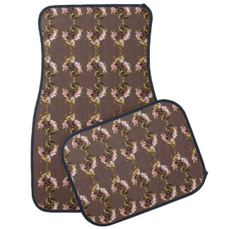 Heade Blossoms Flowers Floral Trim Car Floor Mats