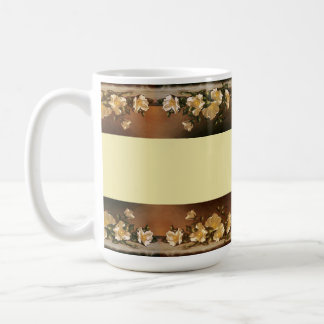 Heade Cherokee Rose Flowers Floral Trim Mug