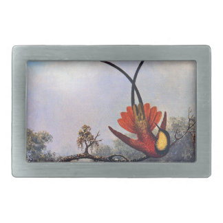 Heade Crimson Topaz Hummingbird Bird Belt Buckle