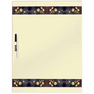Heade Daisy Flowers Dry Erase Board