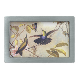 Heade Hummingbirds Butterfly Flowers Belt Buckle