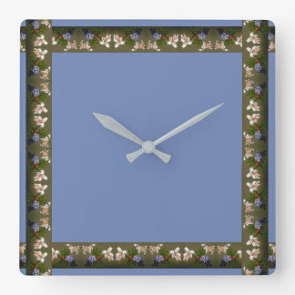Heade Lily Flowers Floral Trim Wall Clock