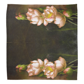 Heade Lotus Waterlily Flowers Floral Bandana