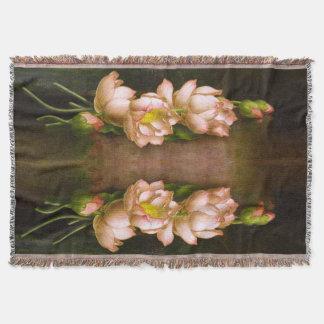 Heade Lotus Waterlily Flowers Garden Throw Blanket