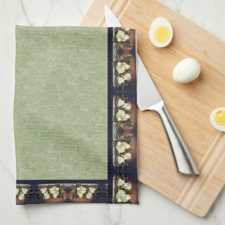 Heade Magnolia Flowers Floral Kitchen Towels