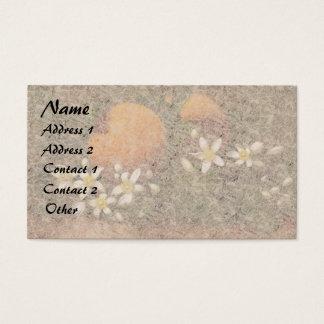 Heade Orange Blossom Flowers Fruit Business Cards