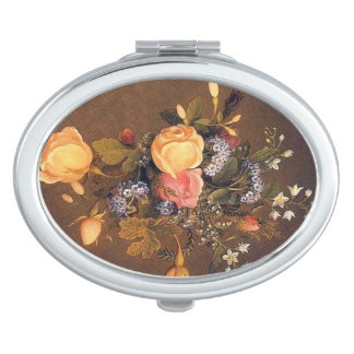Heade Rose Heliotrope Flowers Compact Mirror