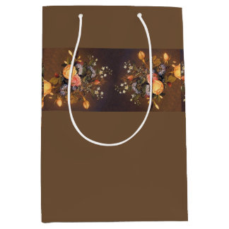 Heade Roses Heliotrope Flowers Bouquet Gift Bag