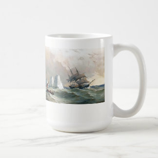 Heade Sailboat Clipper Ship Sea Icebergs Mug