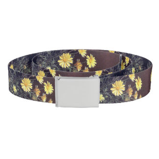 Heade Summer Daisy Flowers Floral Belt
