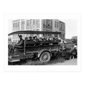 Headed to School, 1921 Postcard