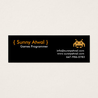 header, { Sunny Atwal }, Games Programmer, info... Mini Business Card