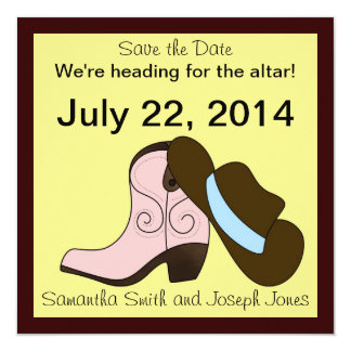 Heading for the Altar ~Save the Date Card