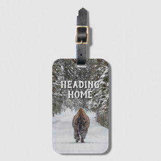 Heading Home Bison in the Snow Luggage Tag