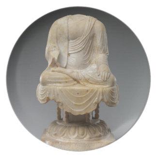 Headless Buddha - Tang dynasty (618–907) Dinner Plates