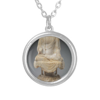 Headless Buddha - Tang dynasty (618–907) Silver Plated Necklace