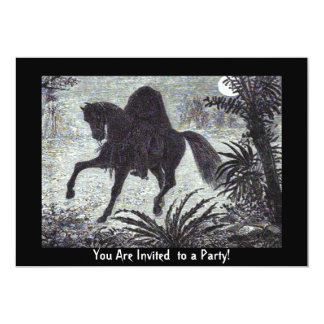 Headless Horseman Halloween Invitation