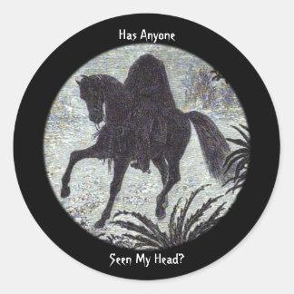 Headless Horseman Has Anyone Seen My Head? Sticker