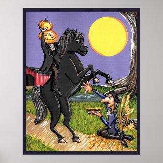 Headless Horseman Ichabod Crane poster
