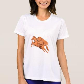 Headless Horseman Pumpkin Head Drawing T-Shirt