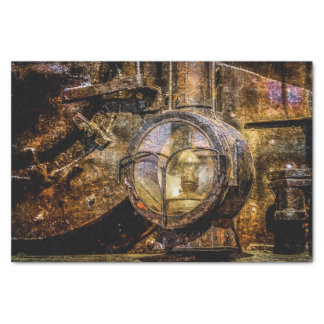 Headlight Of The Vintage Steam Train Tissue Paper