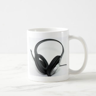 Headphone Classic White Coffee Mug
