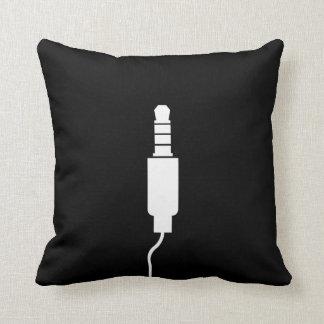 Headphone Jack Pictogram Throw Pillow
