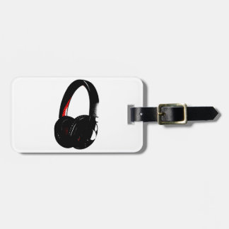 Headphone Pop Art Head Phone Luggage Tag