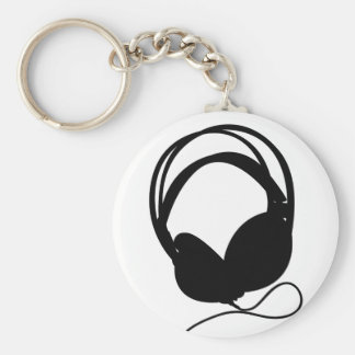 Headphone Silhouette Keychain