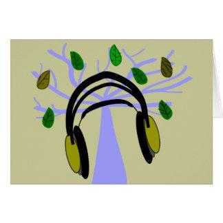 Headphone & Tree of Life Design Cards