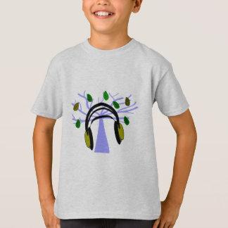 Headphone & Tree of Life Design T-Shirt