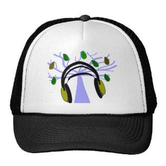 Headphone Tree of Life Design Trucker Hats
