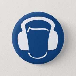 Headphones 2 Inch Round Button
