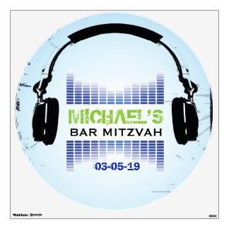 HEADPHONES Bar Bat Mitzvah Dance Floor Decal