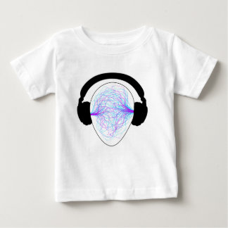 headphones blue purple- black tschirt baby T-Shirt