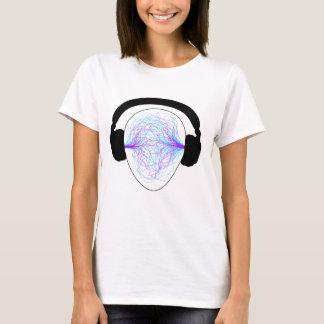 headphones blue purple- black tschirt T-Shirt