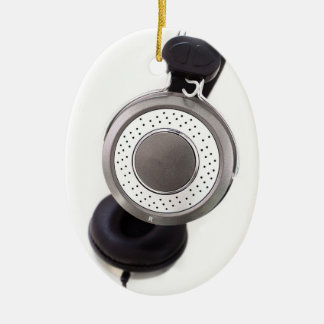 Headphones Ceramic Ornament