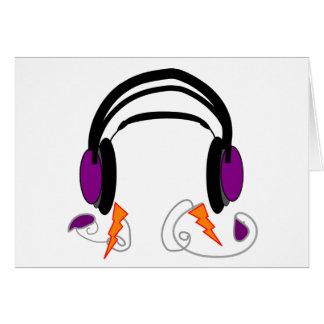 Headphones Design--Music Lovers Card