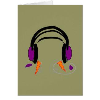 Headphones Design--Music Lovers Greeting Card