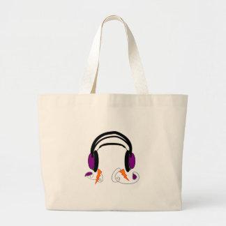 Headphones Design--Music Lovers Tote Bags